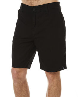 BLACK MENS CLOTHING ZOO YORK SHORTS - ZY-MWNC030BLK