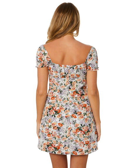 FLORAL WOMENS CLOTHING LULU AND ROSE DRESSES - LU23896FLORAL