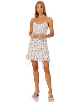 FLORAL OASIS WHITE WOMENS CLOTHING THE EAST ORDER DRESSES - EO200218DFLO