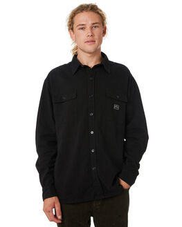 BLACK MENS CLOTHING RUSTY SHIRTS - WSM0868BLK