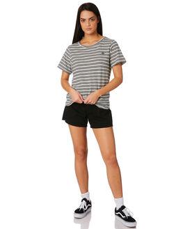 NATBLK STRIPE WOMENS CLOTHING THRILLS TEES - WTW8-914AZNATBLK