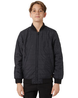 BLACK KIDS BOYS QUIKSILVER JUMPERS + JACKETS - EQBJK03140KVJ0