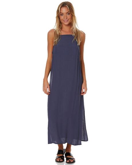 MACHINE BLUE WOMENS CLOTHING RUSTY DRESSES - DRL0845MHB