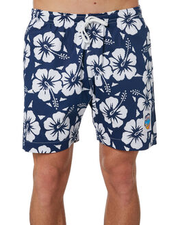 NAVY MENS CLOTHING OKANUI BOARDSHORTS - OKSOHBNVNVY