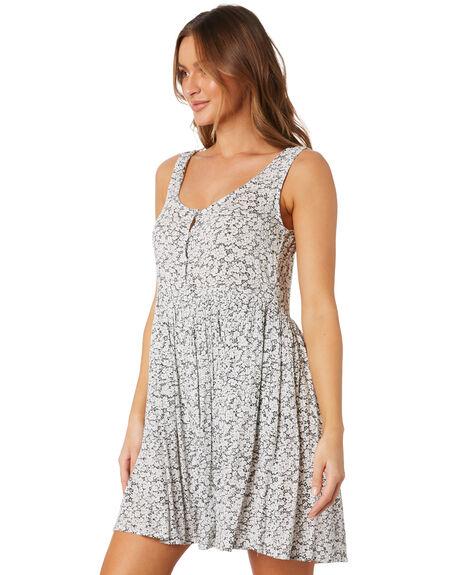 BLACK WHITE WOMENS CLOTHING VOLCOM DRESSES - B1322017BWH