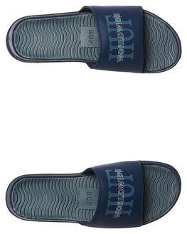 BLUE MENS FOOTWEAR HUF SLIDES - CP00006BLU