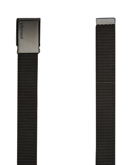 BLACK MENS ACCESSORIES ELEMENT BELTS - 183721BBLK