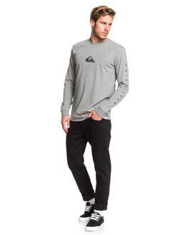 MEDIUM GREY HEATHER MENS CLOTHING QUIKSILVER TEES - EQYZT05455-KPVH