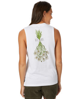 WHITE WOMENS CLOTHING AFENDS SINGLETS - W182083WHT
