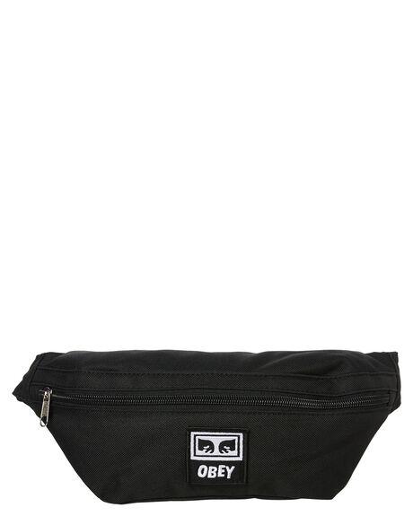 BLACK OUTLET MENS OBEY BAGS + BACKPACKS - 100010100BLK