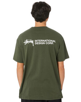 FLIGHT GREEN MENS CLOTHING STUSSY TEES - ST006005FLTGR