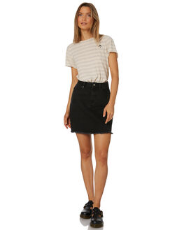 FADED BLACK WOMENS CLOTHING THRILLS SKIRTS - WTDP-322FBBLK