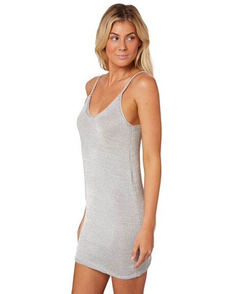 SILVER WOMENS CLOTHING LULU AND ROSE DRESSES - LU23573SIL