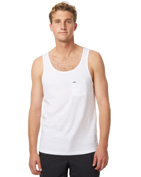 WHITE MENS CLOTHING RIP CURL SINGLETS - CTECZ21000