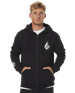 WASHED BLACK MENS CLOTHING VOLCOM JUMPERS - A4831705WSB