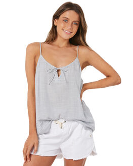 WHITE BLUE WOMENS CLOTHING RIP CURL FASHION TOPS - GSHDK11638