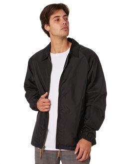 BLACK MENS CLOTHING BRIXTON JACKETS - 03211BLACK