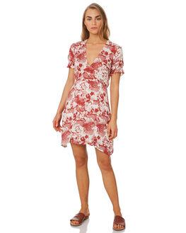 RUST PRINT WOMENS CLOTHING ELWOOD DRESSES - W947176KJ