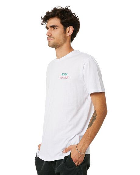 WHITE MENS CLOTHING BRIXTON TEES - 16283WHITE