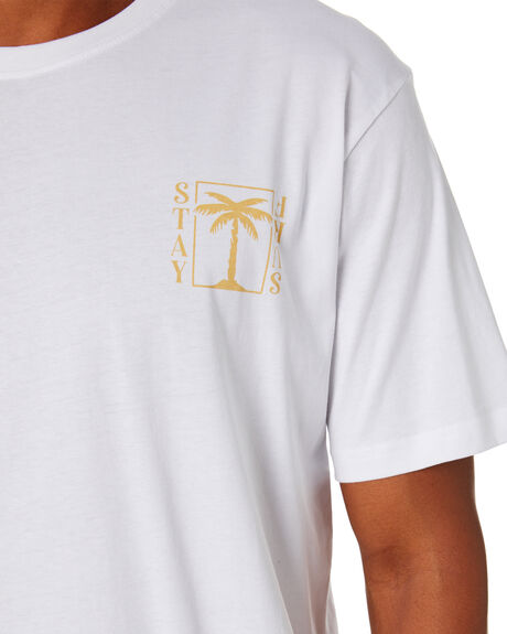 WHITE MENS CLOTHING STAY TEES - STE-20402WHT
