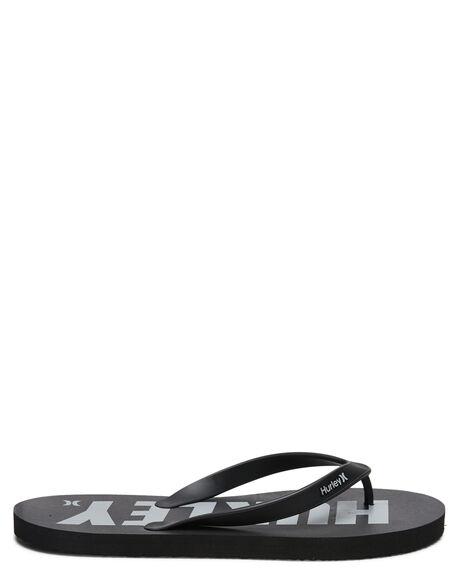 BLACK GREY MENS FOOTWEAR HURLEY THONGS - HFS0009008