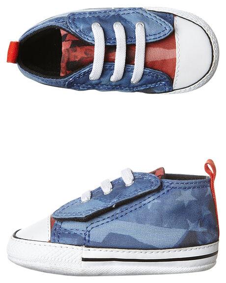 Converse Baby Chuck Taylor First Star Easy Shoe - Oxygen Blue Signal ... eba93b7155