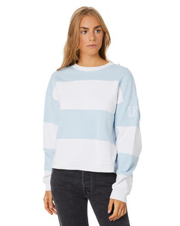 BLUE WHITE STRIPE WOMENS CLOTHING LEVI'S JUMPERS - 85749-0000BLUWH