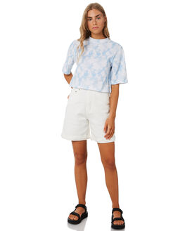 BLUE TIE DYE WOMENS CLOTHING THE FIFTH LABEL TEES - 402001157-9BTD