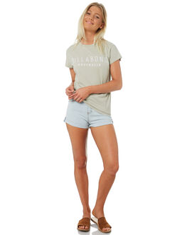 LIGHT KHAKI WOMENS CLOTHING BILLABONG TEES - 6581010LKHA