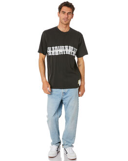 WASHED BLACK MENS CLOTHING RIP CURL TEES - CTEMH98264