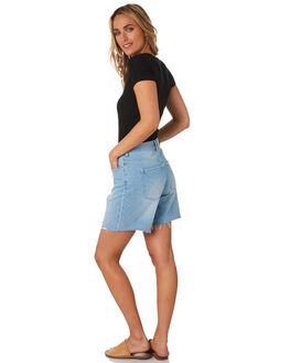 SANTANA BLUE WOMENS CLOTHING RIDERS BY LEE SHORTS - R-551632-LK1