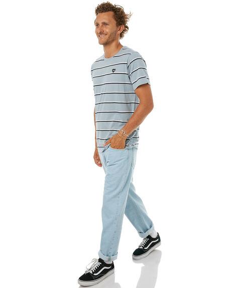 GLACIER BLUE MENS CLOTHING BANKS TEES - SMTS0004GBL