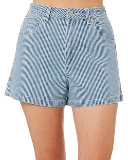 INDIGO STRIPE WOMENS CLOTHING WRANGLER SHORTS - W-951269-I56