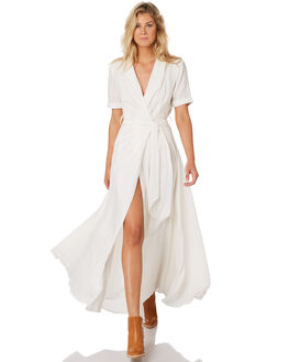 WHITE WOMENS CLOTHING THE HIDDEN WAY DRESSES - H8194445WHT