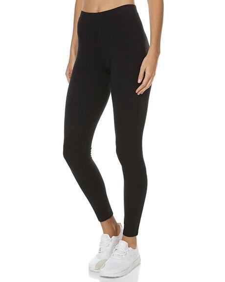 Adidas Originals Linear Trefoil Womens Leggings - Black | SurfStitch