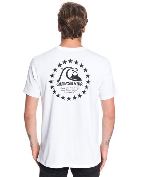 WHITE MENS CLOTHING QUIKSILVER TEES - EQYZT05532-WBB0