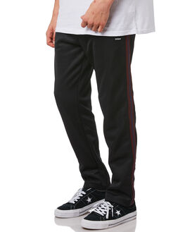 BLACK MENS CLOTHING STUSSY PANTS - ST082620BLK