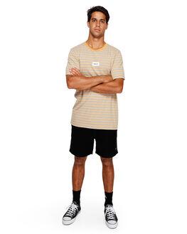 DUST YELLOW MENS CLOTHING RVCA TEES - RV-R191049-DYL
