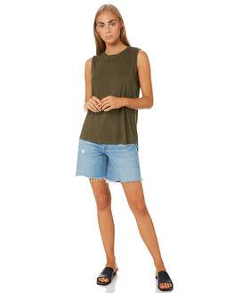 KHAKI WOMENS CLOTHING BETTY BASICS SINGLETS - BB542T20KHK