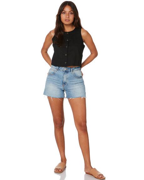 BLACK WOMENS CLOTHING O'NEILL SINGLETS - SP0404011BLK