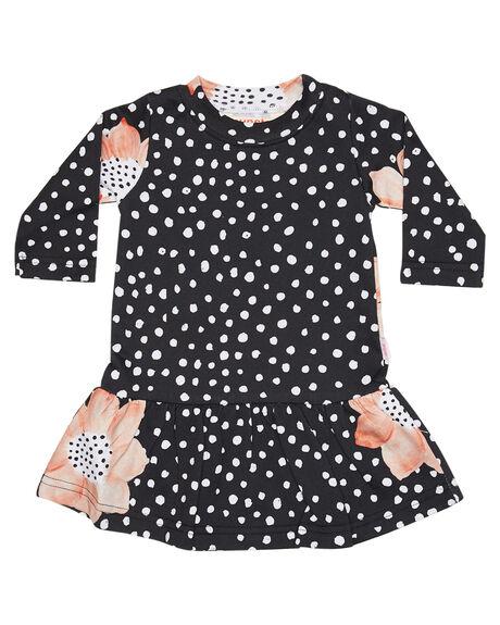 BLACK FLORAL KIDS BABY MUNSTER KIDS CLOTHING - LM172DR04BKFLR