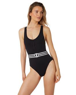 BLACK WOMENS SWIMWEAR SEAFOLLY ONE PIECES - 10849-065BLK