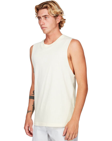 PALE YELLOW MENS CLOTHING RVCA SINGLETS - RV-R192010-PAY