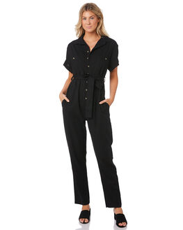 BLACK WOMENS CLOTHING ROLLAS PLAYSUITS + OVERALLS - 13155BLK