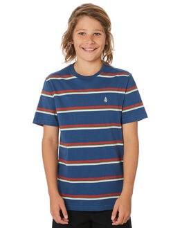 SMOKEY BLUE KIDS BOYS VOLCOM TOPS - CO141903SMB