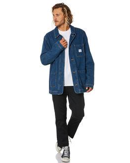 MID WASH DENIM MENS CLOTHING HERSCHEL SUPPLY CO JACKETS - 50068-00607