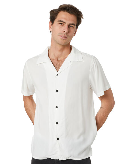 WHITE MENS CLOTHING THE PEOPLE VS SHIRTS - MASONWHT