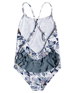 BRIGHT WHITE FLOWER KIDS GIRLS ROXY SWIMWEAR - ERLX103035-WBB9