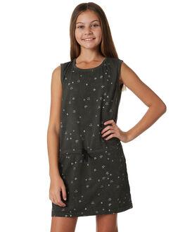 WASHED OLIVE KIDS GIRLS MUNSTER KIDS DRESSES - MM181DR01OLV