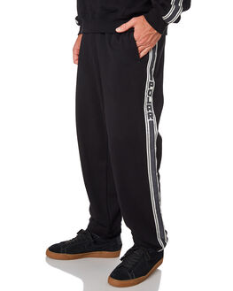 BLACK MENS CLOTHING POLAR SKATE CO. PANTS - PSC-TAPESWEAT-BLK